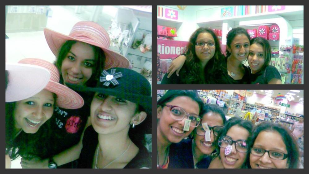 mall hang collage
